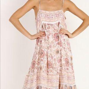 Spell Zahara Midi Dress in Dusty Pink NWT size XS